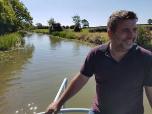 Aaran Chapman hiring narrowboat on Grand Union